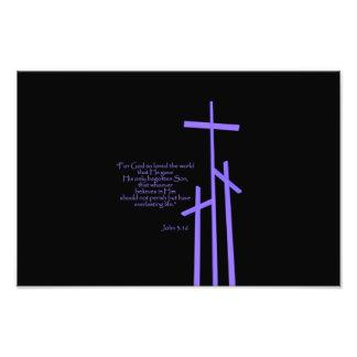 John 3:16 For God so loved the world. Photo Print