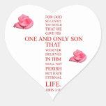 John 3:16 - For God so loved the world Sticker