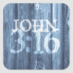 John 3:16...For God So Loved the World Square Stickers