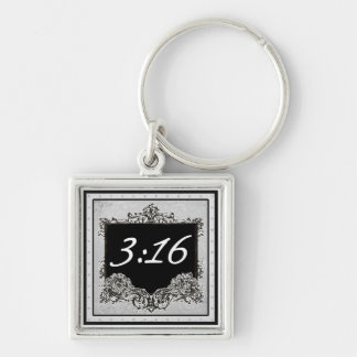 "John 3:16 ""For God so loved the world that..."" Keychain"