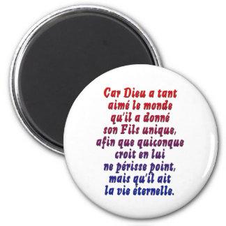 John 3:16 French Refrigerator Magnet