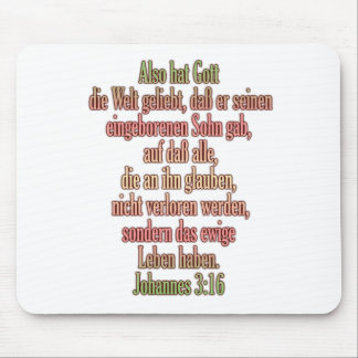 John 3:16 German I Mouse Pad