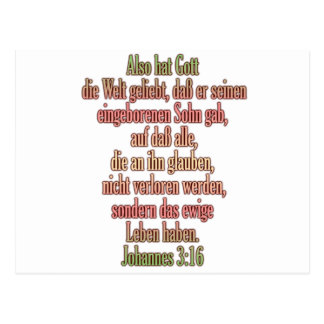 John 3:16 German I Postcard