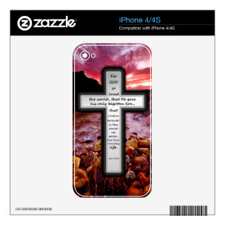 John 3:16 Gifts Decals For The iPhone 4S