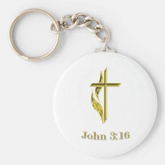 John 3:16 gifts keychain