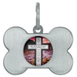 John 3:16 Gifts Pet ID Tag
