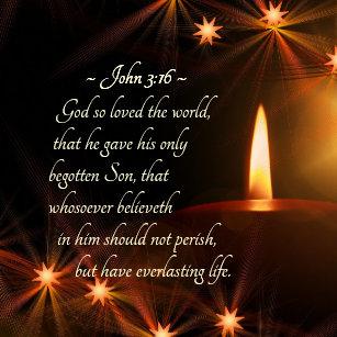 John 316 God So Loved The World Christmas Bible Ceramic Ornament