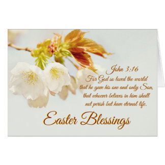 John 3:16 God so loved the world, Easter Blessings Card