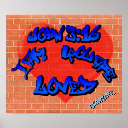 John 3:16 Graffiti Poster print