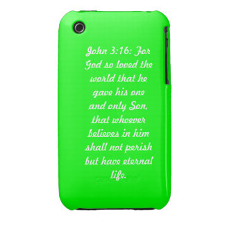 John 3:16 Green iPhone 3G/3GS Case-Mate iPhone 3 Cover
