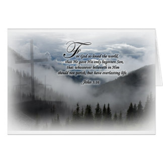 John 3:16 - Greeting Card, envelopes included Card