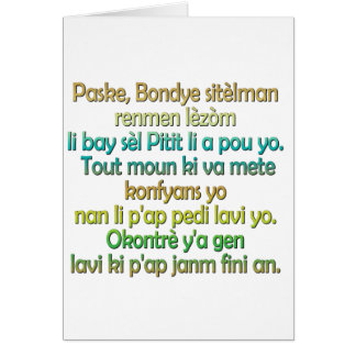 John 3:16 Haitian Creole Card