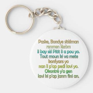 John 3:16 Haitian Creole Keychain