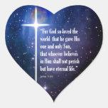 John 3:16 heart stickers