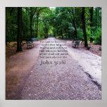 John 3:16: Inspirational Biblical quote NATURE Poster
