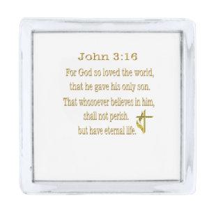 Delightful John 3:16 Items Silver Finish Lapel Pin