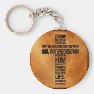 John 3 16 Keychain