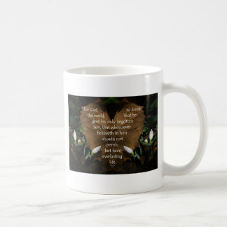 john 3:16 king james on heart leaf coffee mug