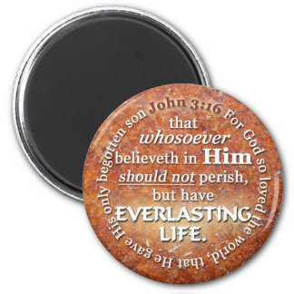John 3:16 KJV Everlasting Life Bible Verse Quote Magnet