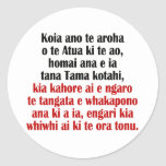 John 3:16 Maori II Classic Round Sticker