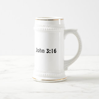 John 3 16 18 oz beer stein