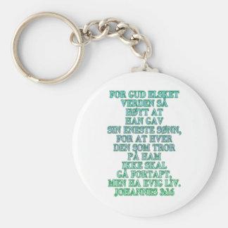 John 3:16 Norwegian Keychain