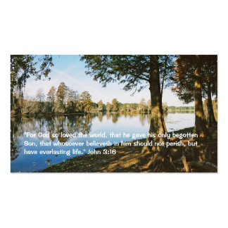 "John 3:16 Personal ""Business"" Card Double-Sided Standard Business Cards (Pack Of 100)"