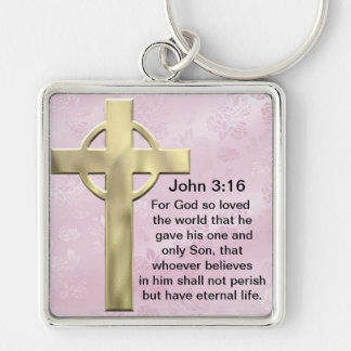 John 3:16 (pink) keychain