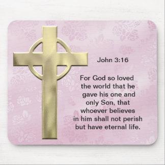 John 3:16 (pink) mouse pad