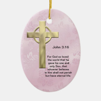 John 3 16 pink ornaments