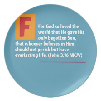 John 3:16 party plate