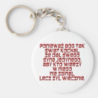 John 3:16 Polish Keychain