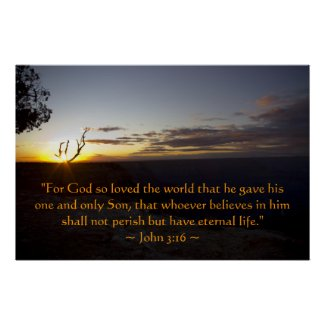 John 3:16 Poster print