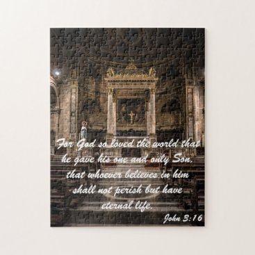 Beach Themed John 3:16 quote. jigsaw puzzle