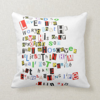 John 3:16 Ransom Note Pillow