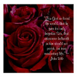 John 3:16 red roses print
