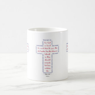 John 3:16 Red, White and Blue Cross Coffee Mug