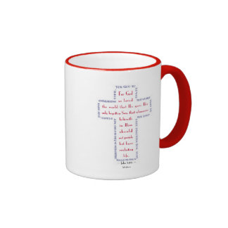 John 3:16 Red, White and Blue Cross Mug