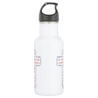 John 3:16 Red, White and Blue Cross 18oz Water Bottle