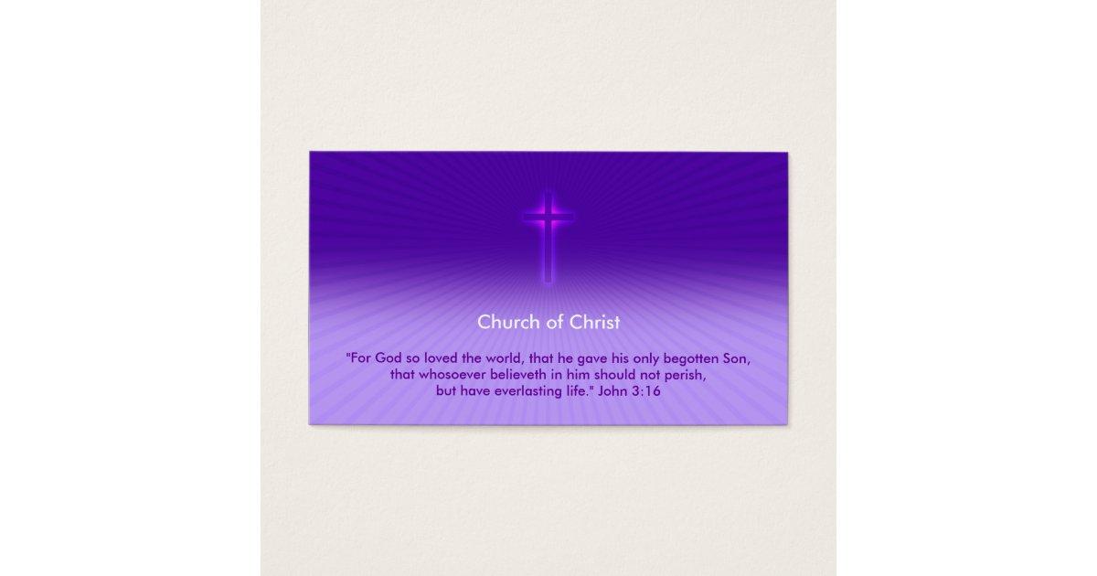 John 3:16 - Religious Cross Business Card   Zazzle.com