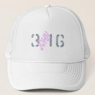 John 3.16 Rose Gris Trucker Hat