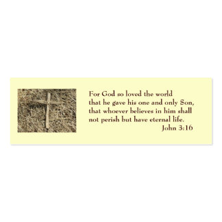 John 3:16 Salvation Card Double-Sided Mini Business Cards (Pack Of 20)