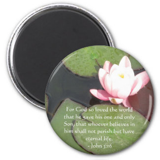 John 3:16 Scripture inspirational quote 2 Inch Round Magnet