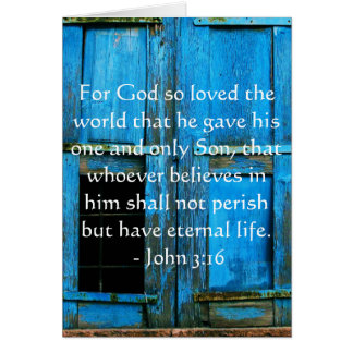 John 3:16 Scripture inspirational quote Card