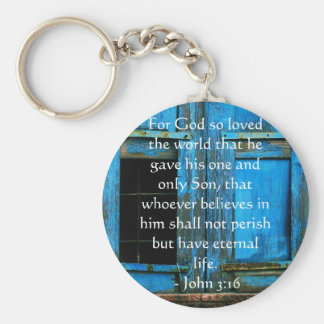 John 3:16 Scripture inspirational quote Keychain