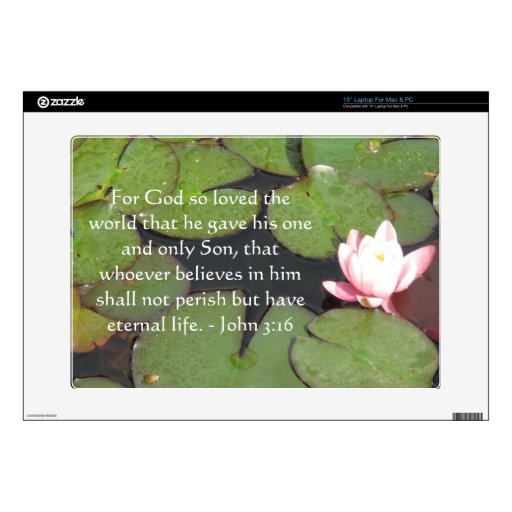 John 3:16 Scripture inspirational quote Decals For Laptops