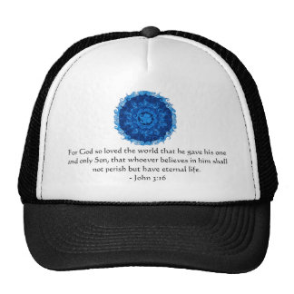 John 3:16 Scripture inspirational quote Trucker Hat