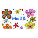 John 3:16 Scripture Memory Card, Bright Business Card