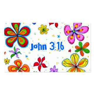 John 3:16 Scripture Memory Card, Bright Double-Sided Standard Business Cards (Pack Of 100)