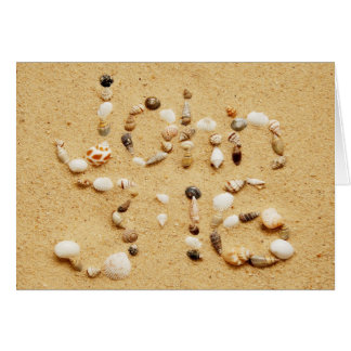John 3:16 Seashells Card